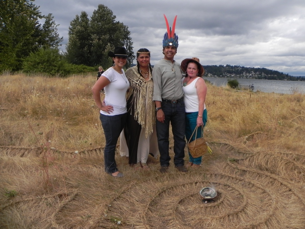 Garcia family portrait at the Kabuya opening celebration, September 2012. Photo by Constance Awenasa.